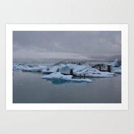 Beautiful glacial lake Jökulsárlón Art Print
