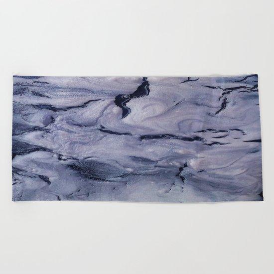 gray marble Beach Towel