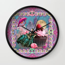 magical crystal dreamland  Wall Clock