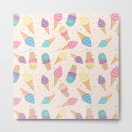 ice cream party Metal Print
