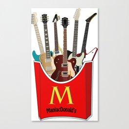 Maniac Donald's guitar potato Canvas Print