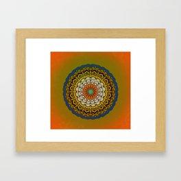 Round Colorful Design Framed Art Print