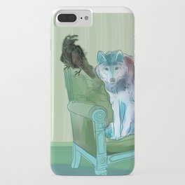 animals in chars #3 The Wolf and the Raven iPhone Case