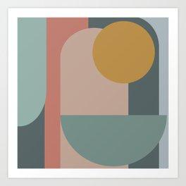 Zen Shape and Color Study 58 Art Print
