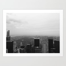New York in Black and White Art Print