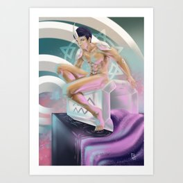 Aquarius - Zodiac King Art Print
