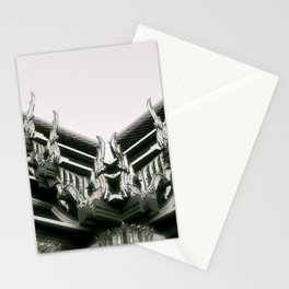 Ornate Rooftops at Wat Po a beautiful temple in Bangkok Stationery Cards