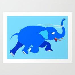Loch Ness Elephant Theory Art Print