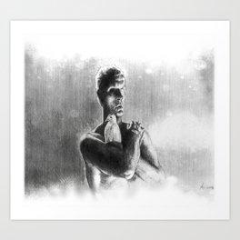 Tears, in rain Art Print