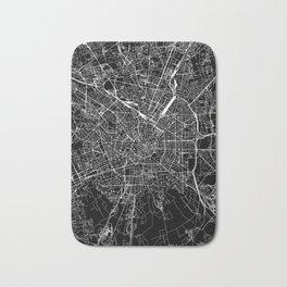 Milan Black Map Bath Mat