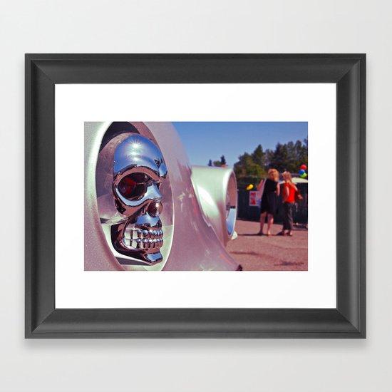 Skull car ornament Framed Art Print