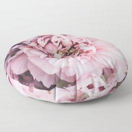 Pink Blush Peonies Floor Pillow