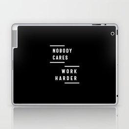 Nobody Cares Work Harder Fitness Workout Gym Gift Laptop & iPad Skin