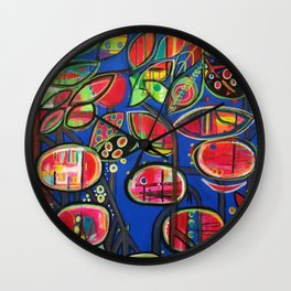 Mangrove Madness Wall Clock