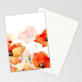 Midsummer Botanical Poppy Garden Stationery Cards