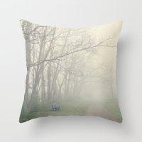 fog Throw Pillows featuring Fog by Laura Ruth