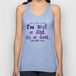 Just a girl in a bar Unisex Tank Top