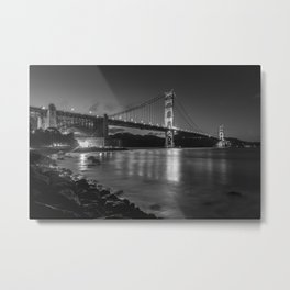 Night Walks at Fort Point, San Francisco Metal Print