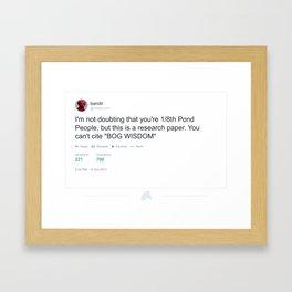 "Twittr - @UtilityLimb - ""Bog Wisdom"" Framed Art Print"