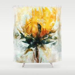 Born in Sunflower Shower Curtain