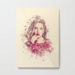 Scarlett Johansson splatter painting Metal Print