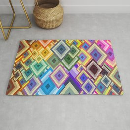 geometric colour Rug
