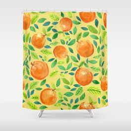 Citrus Yellow Shower Curtain