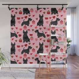 Scottie scottish terrier valentines day dog love pet portrait cute puppy dog valentine Wall Mural