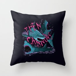 Then Cannons Throw Pillow