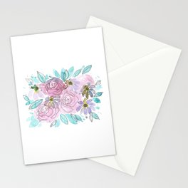 Roses and Daisies Stationery Cards