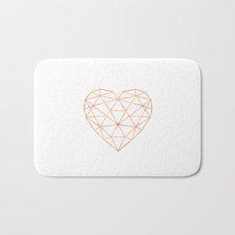 COPPER HEART (WHITE) Bath Mat