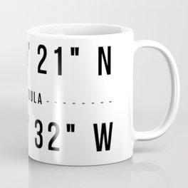 Missoula, Montana Coordinates Coffee Mug