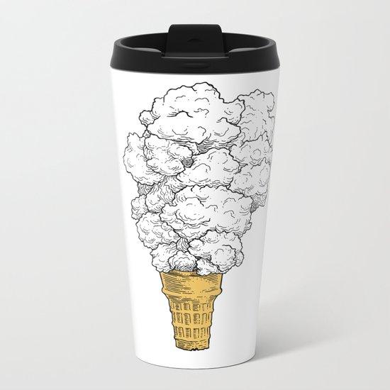 Volcano ice cream Metal Travel Mug