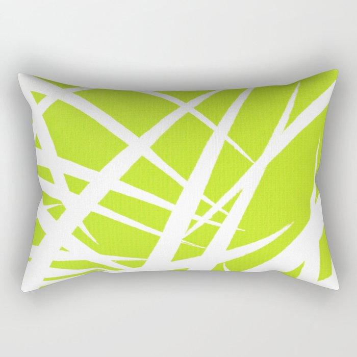 into the wind/green Rectangular Pillow