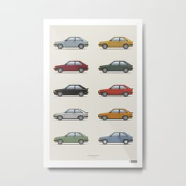 Ford Escort Mk3 XR3i - Car Print Metal Print