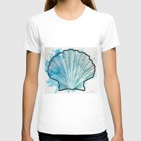 shell T-shirts featuring Shell by Bryan McKinney