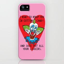 Killer Klown Love iPhone Case