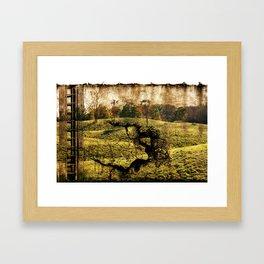 landscape with a ladder Framed Art Print