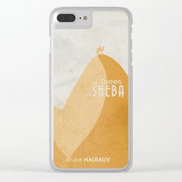 Queen of Sheba, André Malraux, book cover, Yemen, travel, adventure, wanderlust, travelling stories Clear iPhone Case