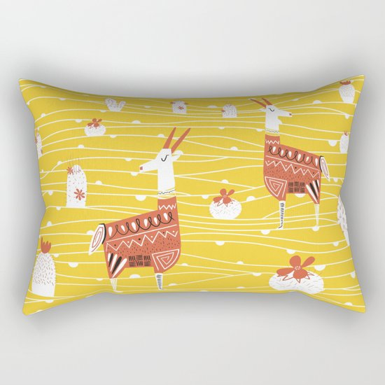 Antelope in the desert Rectangular Pillow