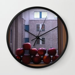 Sweet Delicious Awesome Apples  Wall Clock