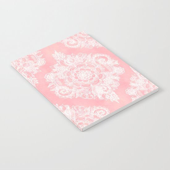 Marshmallow Lace Notebook