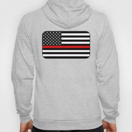 Thin Red Line American Flag Hoody