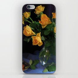 Still Life with Yellow Roses Bouquet iPhone Skin