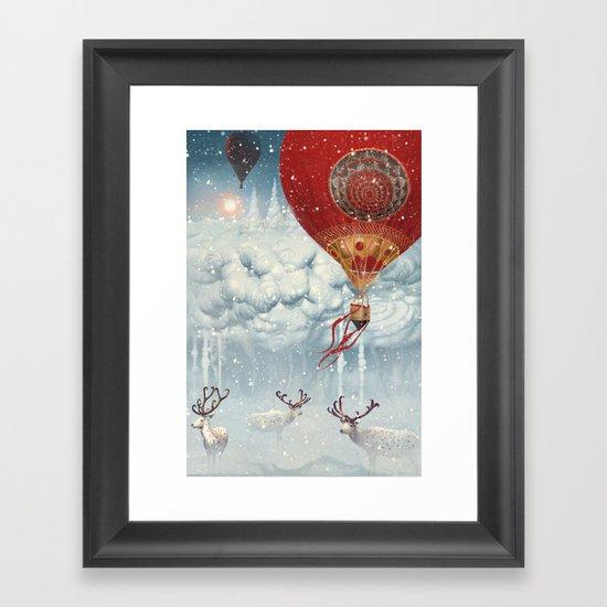 WinterFly Framed Art Print