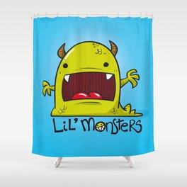 Lil' Monster Green Shower Curtain