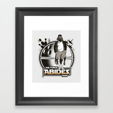 The Force Abides Framed Art Print