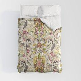 boho rococo pearl Comforters