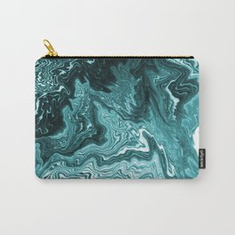 Yumiko - spilled ink painting abstract minimal ocean wave water sea monochromatic trendy hipster art Carry-All Pouch