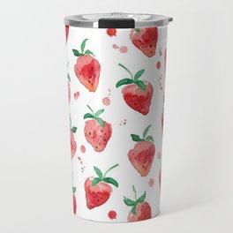 Strawberries Pow Travel Mug